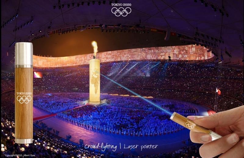 Idea para el encendido de la llama Olímpica de los JJOO de Tokio 2020.