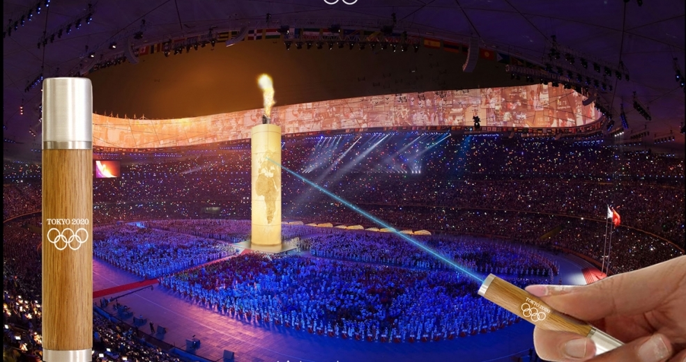 Idea for the Olympic flame lighting Tokyo 2020